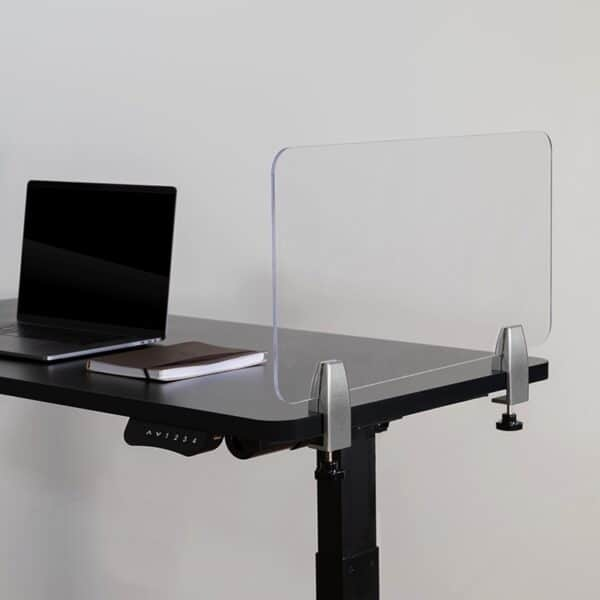 Clear Acrylic Desk Partition with Hardware